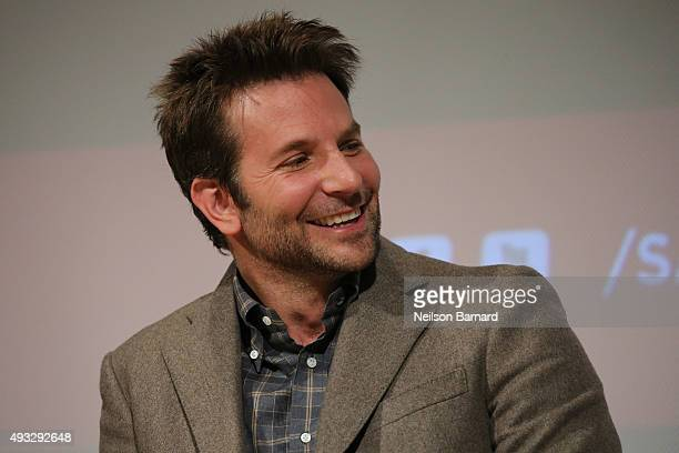 Actor Bradley Cooper attends the SAG Foundation Conversations Screening and QA with the cast of 'Burnt' at The New School on October 18 2015 in New...