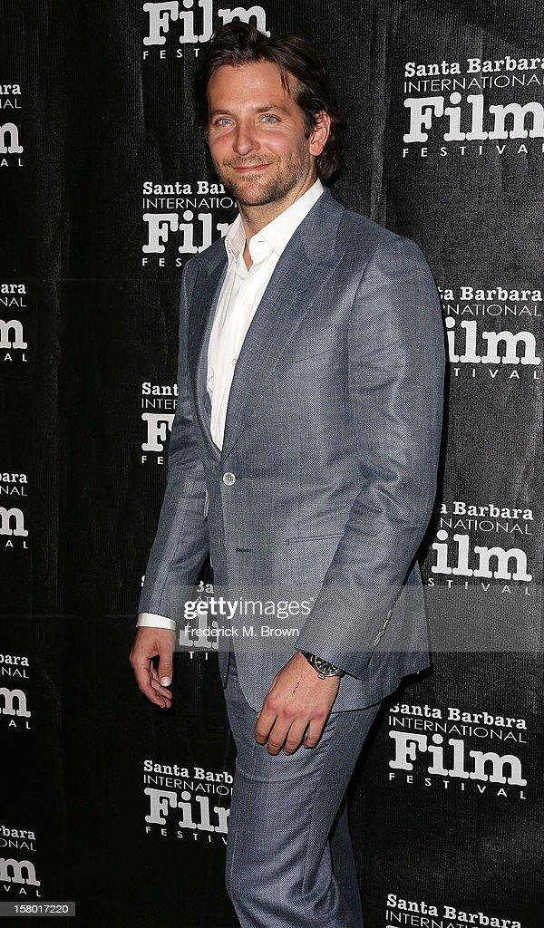 Actor Bradley Cooper attends the SBIFF's 2012 Kirk Douglas Award for Excellence In Film during the Santa Monica Film Festival on December 8, 2012 in Goleta, California.