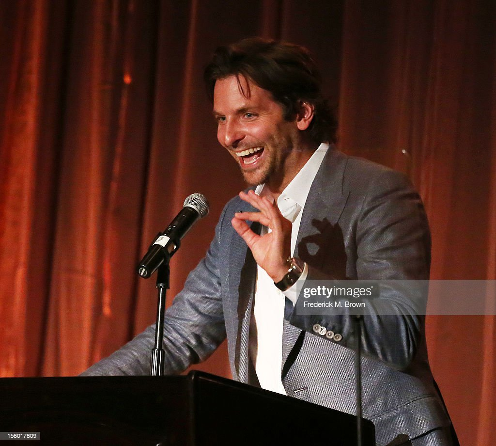 Actor <a gi-track='captionPersonalityLinkClicked' href=/galleries/search?phrase=Bradley+Cooper&family=editorial&specificpeople=680224 ng-click='$event.stopPropagation()'>Bradley Cooper</a> attends the SBIFF's 2012 Kirk Douglas Award for Excellence In Film during the Santa Barbara Film Festival on December 8, 2012 in Goleta, California.