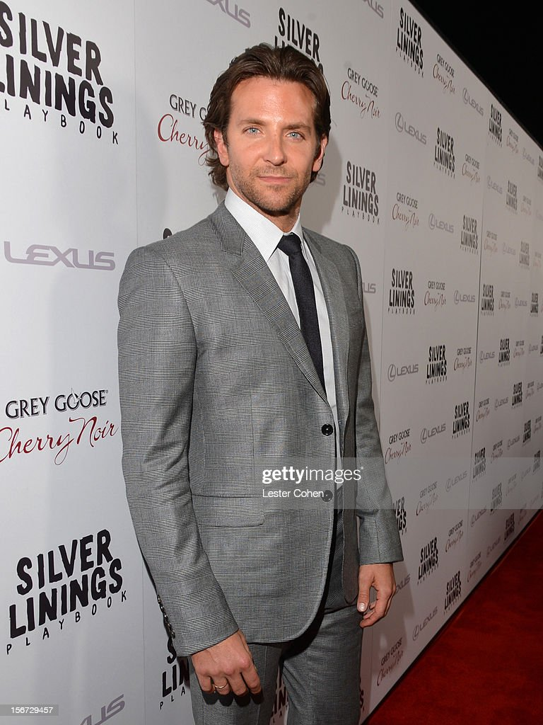 Actor <a gi-track='captionPersonalityLinkClicked' href=/galleries/search?phrase=Bradley+Cooper&family=editorial&specificpeople=680224 ng-click='$event.stopPropagation()'>Bradley Cooper</a> attends the ''Silver Linings Playbook' Los Angeles special screening at the Academy of Motion Picture Arts and Sciences on November 19, 2012 in Beverly Hills, California.