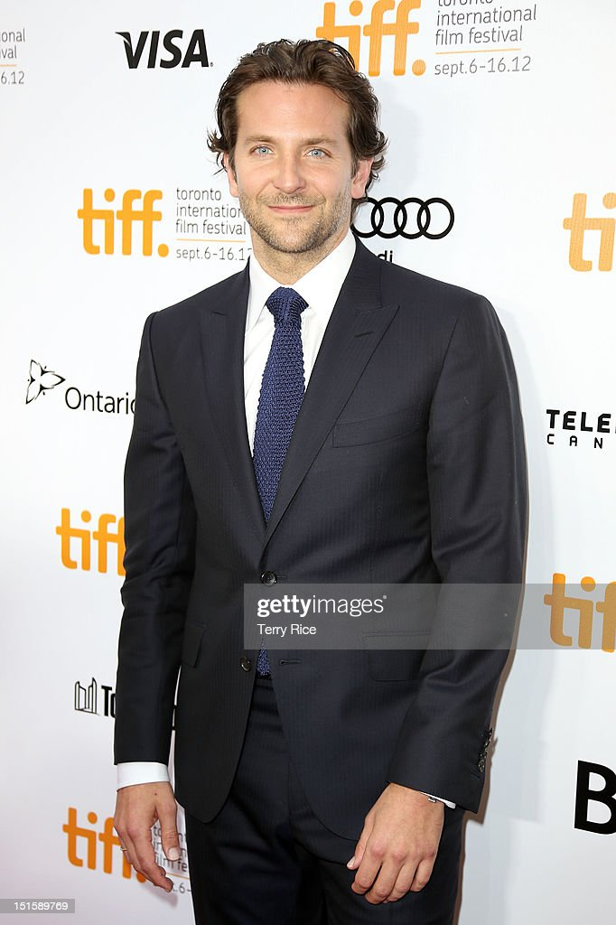 Actor <a gi-track='captionPersonalityLinkClicked' href=/galleries/search?phrase=Bradley+Cooper&family=editorial&specificpeople=680224 ng-click='$event.stopPropagation()'>Bradley Cooper</a> attends the 'Silver Linings Playbook' premiere during the 2012 Toronto International Film Festiva at Roy Thomson Halll on September 8, 2012 in Toronto, Canada.