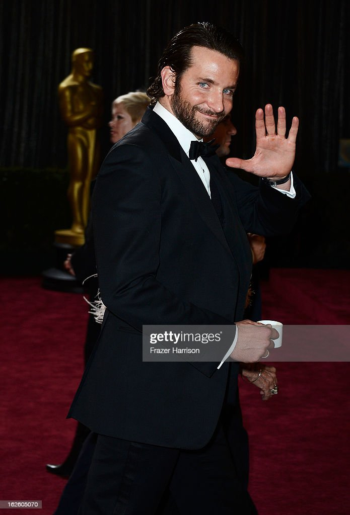 Actor Bradley Cooper departs the Oscars at Hollywood & Highland Center on February 24, 2013 in Hollywood, California.