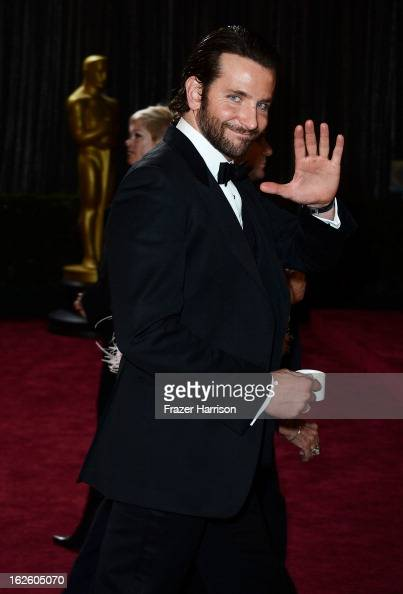 Actor Bradley Cooper departs the Oscars at Hollywood Highland Center on February 24 2013 in Hollywood California