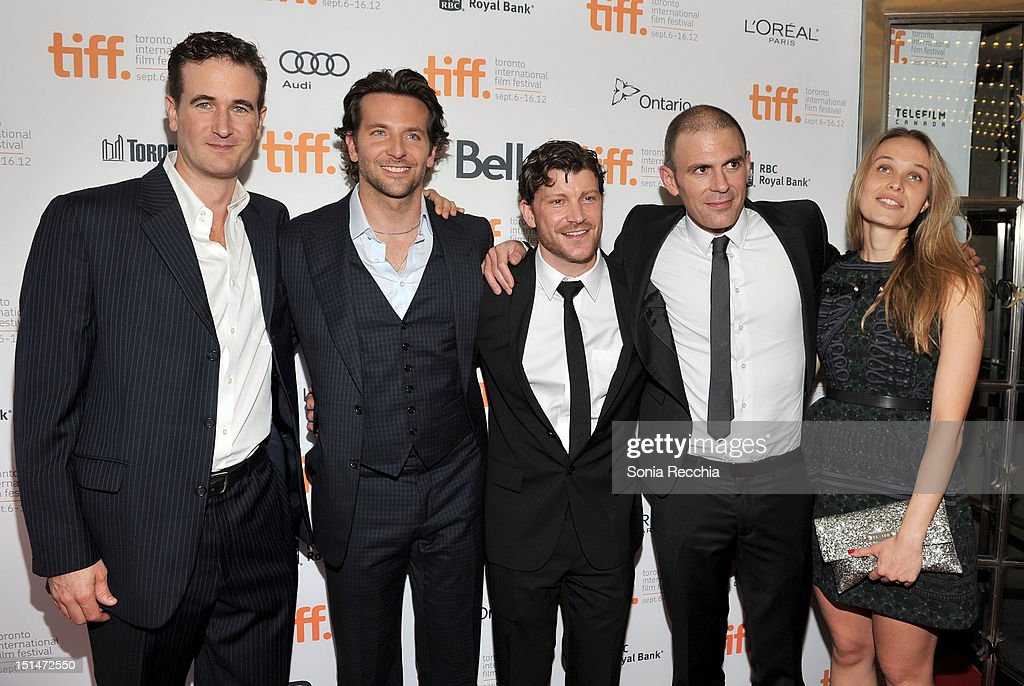 actor <a gi-track='captionPersonalityLinkClicked' href=/galleries/search?phrase=Bradley+Cooper&family=editorial&specificpeople=680224 ng-click='$event.stopPropagation()'>Bradley Cooper</a>, Gabe Fazio, Joanna Fazio and guests attend 'The Place Beyond The Pines' premiere during the 2012 Toronto International Film Festival at Princess of Wales Theatre on September 7, 2012 in Toronto, Canada.