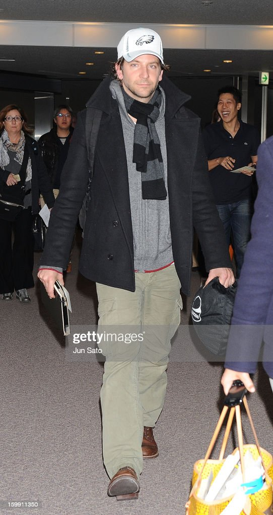 Actor Bradley Cooper is seen at Narita International Airport on January 23, 2013 in Narita, Japan.