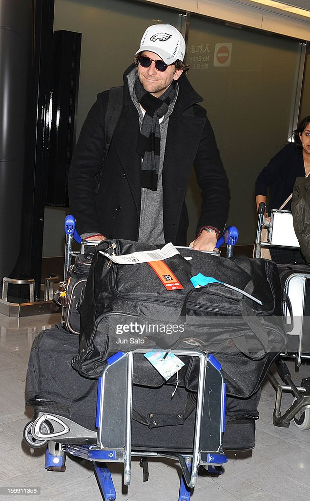 Actor <a gi-track='captionPersonalityLinkClicked' href=/galleries/search?phrase=Bradley+Cooper&family=editorial&specificpeople=680224 ng-click='$event.stopPropagation()'>Bradley Cooper</a> is seen at Narita International Airport on January 23, 2013 in Narita, Japan.