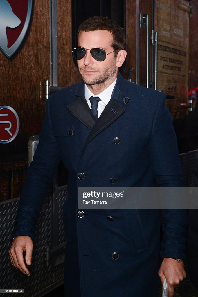 Actor <a gi-track='captionPersonalityLinkClicked' href=/galleries/search?phrase=Bradley+Cooper&family=editorial&specificpeople=680224 ng-click='$event.stopPropagation()'>Bradley Cooper</a> leaves the 'Good Morning America' taping at the ABC Times Square Studios on December 9, 2013 in New York City.