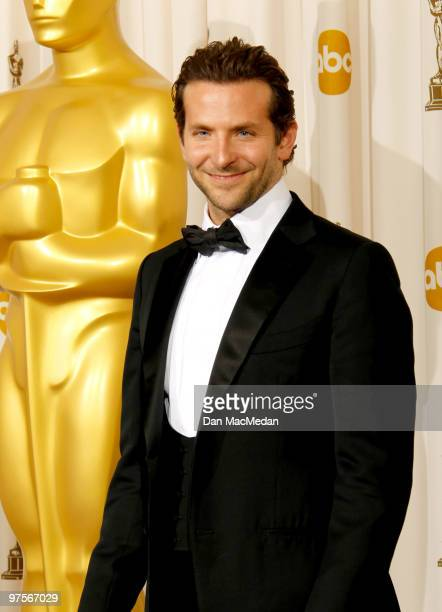 Actor Bradley Cooper poses in the press room at the 82nd Annual Academy Awards held at the Kodak Theater on March 7 2010 in Hollywood California