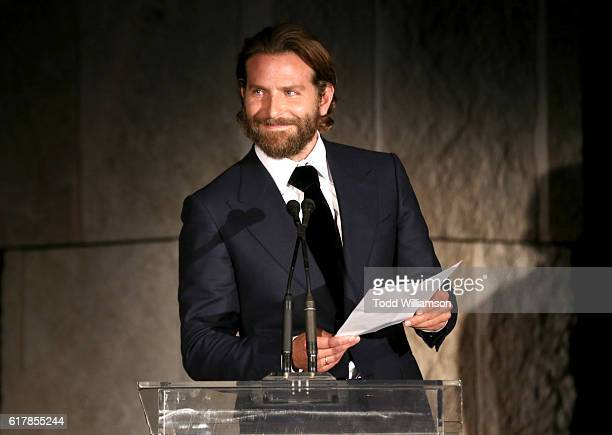 Actor Bradley Cooper speaks onstage during the Second Annual 'InStyle Awards' presented by InStyle at Getty Center on October 24 2016 in Los Angeles...