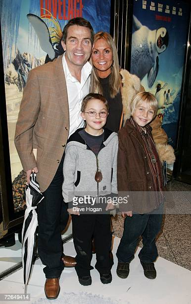 Actor Bradley Walsh his wife Donna and family arrive at the UK Premiere of 'Happy Feet' at Empire Cinema Leicester Square on November 26 2006 in...