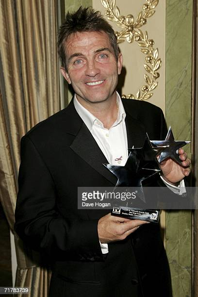 Actor Bradley Walsh poses with the award for Best Soap Actor at the TV Quick and TV Choice Awards at the Dorchester Hotel Park Lane on September 4...