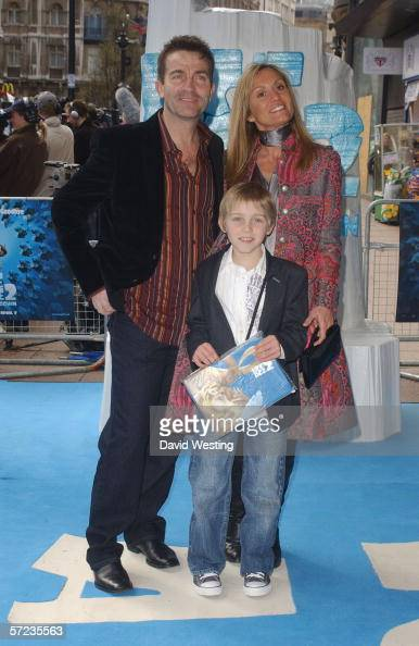 Actor Bradley Walsh with wife Donna and son Barney arrive at the UK Premiere of 'Ice Age 2 The Meltdown' at the Empire Leicester Square on April 2...