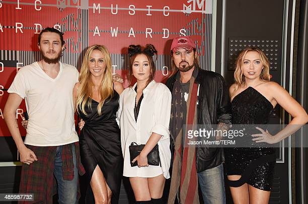 Actor Braison Cyrus Producer Tish Cyrus actress Noah Cyrus recording artist Billy Ray Cyrus and actress Brandi Glenn Cyrus attends the 2015 MTV Video...