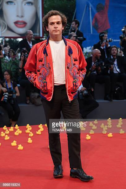 Actor Brando Pacitto arrives at the premiere of the movie 'Piuma' presented in competition at the 73rd Venice Film Festival on September 5 2016 at...
