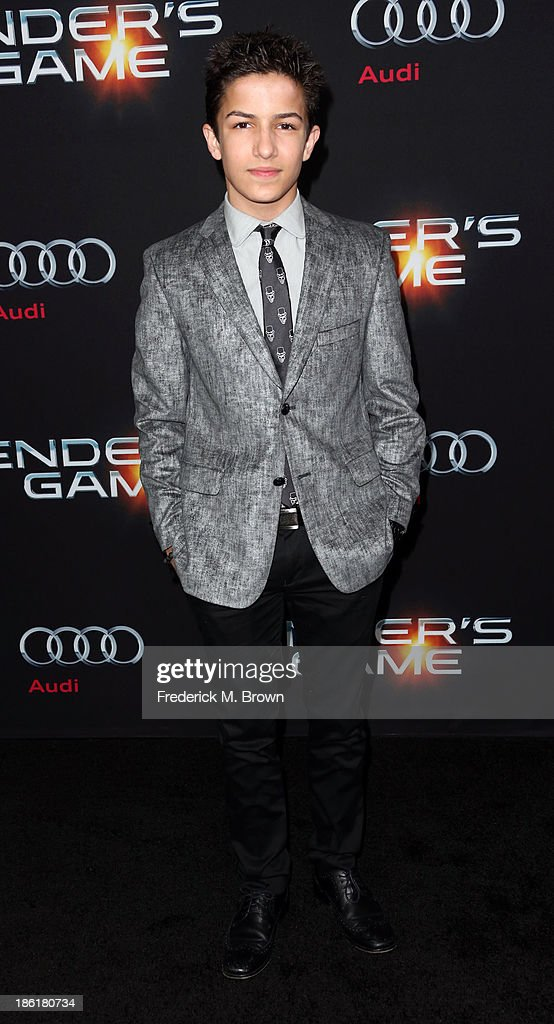 Actor Brandon <a gi-track='captionPersonalityLinkClicked' href=/galleries/search?phrase=Aramis+Knight&family=editorial&specificpeople=4537000 ng-click='$event.stopPropagation()'>Aramis Knight</a> attends the Premiere of Summit Entertainment's 'Ender's Game' at the TCL Chinese Theatre on October 28, 2013 in Hollywood, California.