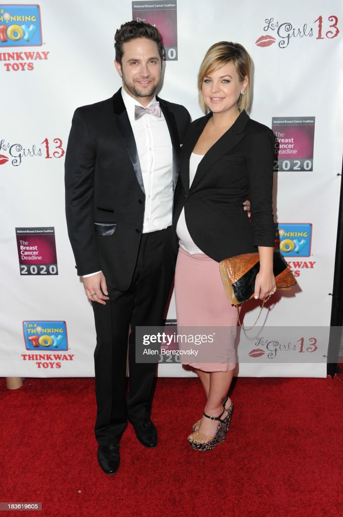 Actor Brandon Barash and actress Kirsten Storms attend the 13th annual Les Girls benefiting the National Breast Cancer Coalition Fund at Avalon on October 7, 2013 in Hollywood, California.