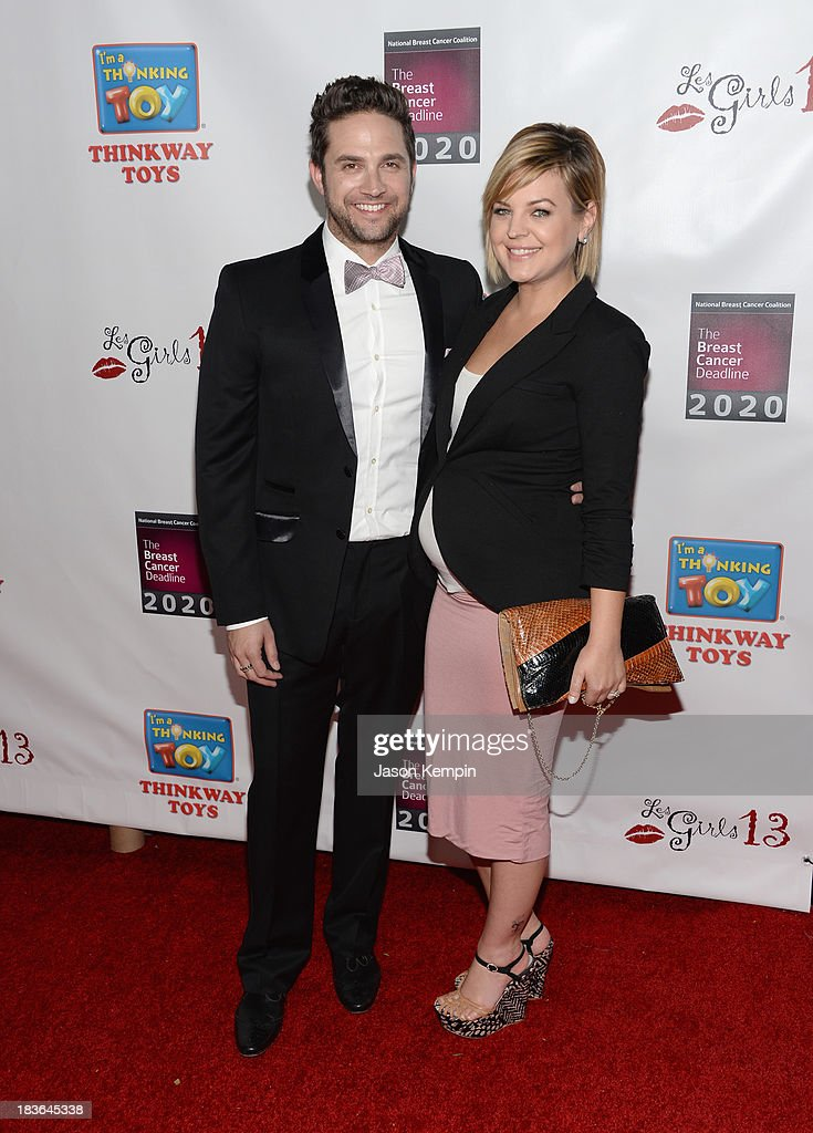 Actor Brandon Barash and actress Kirsten Storms attend the 13th Annual Les Girls benefit at Avalon on October 7, 2013 in Hollywood, California.