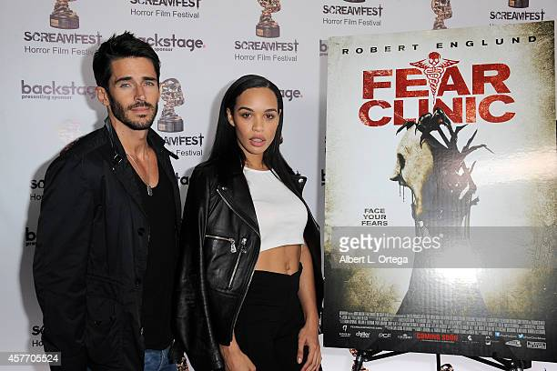 Actor Brandon Beemer and actress Cleopatra Coleman arrive for the 'Fear Clinic' Premiere Screening And QA as part of 2014 ScreamFest held at TCL...