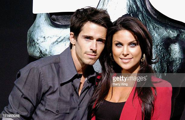 Actor Brandon Beemer and actress Nadia Bjorlin arrives at the 'Final Destination 5' premiere at the Grauman's Chinese Theatre on August 10 2011 in...