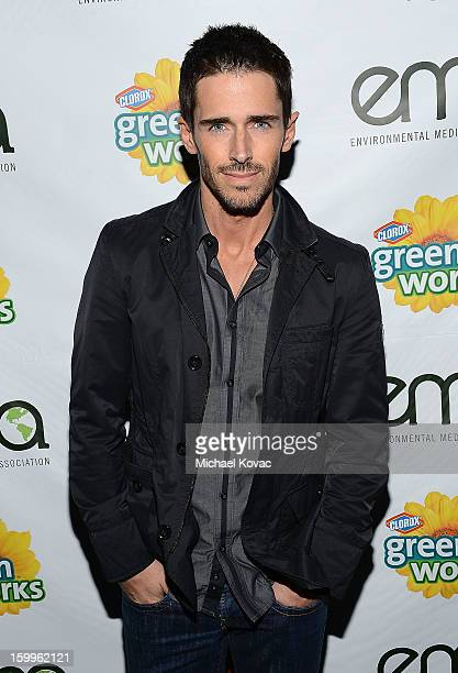 Actor Brandon Beemer attends Celebrities and the EMA Help Green Works Launch New Campaign at Sur Restaurant on January 23 2013 in Los Angeles...