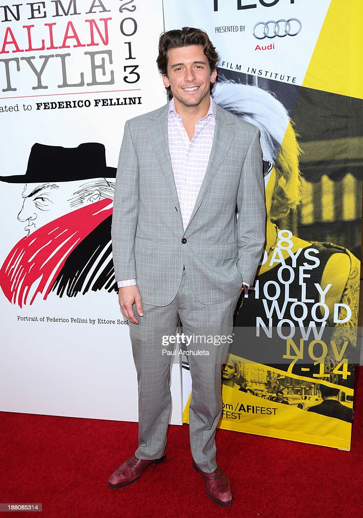 Actor Brandon Durcher attends the premiere of 'The Great Beauty' at the Cinema Italian Style 2013 Opening Night at the Egyptian Theatre on November 14, 2013 in Hollywood, California.