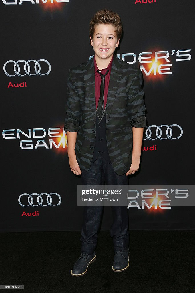 Actor Brandon Garrett Ryan attends the Premiere of Summit Entertainment's 'Ender's Game' at the TCL Chinese Theatre on October 28, 2013 in Hollywood, California.