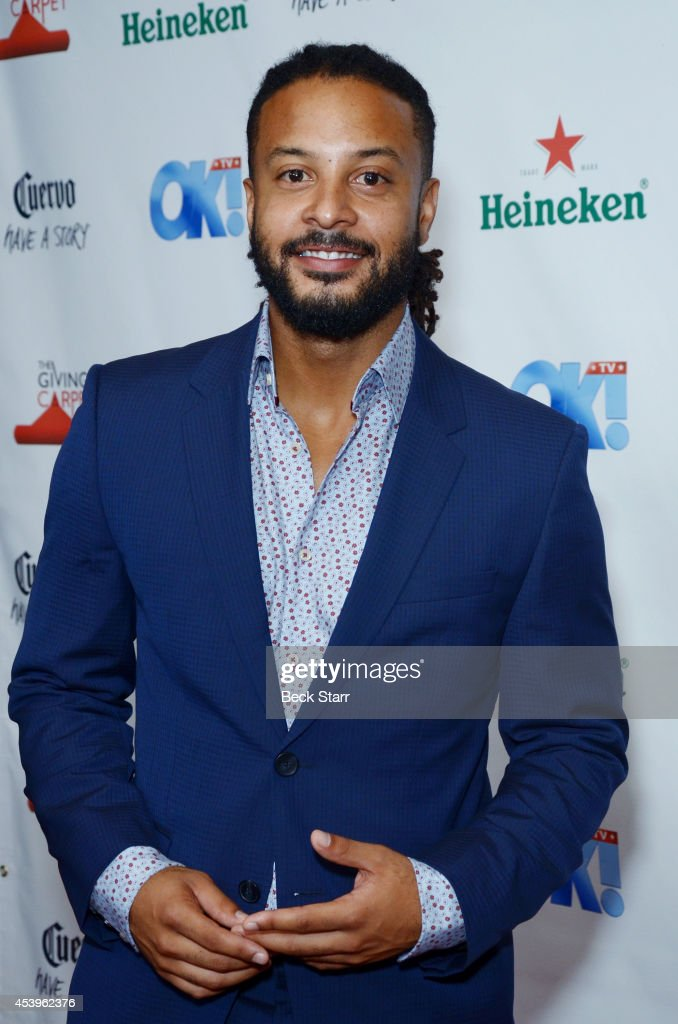 Actor Brandon J. McLaren arrives at OK! TV Emmy pre-awards party honoring the Emmy nominees and presenters at Sofitel Hotel on August 21, 2014 in Los Angeles, California.