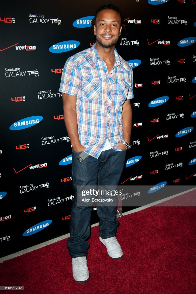 Actor Brandon Jay McLaren arrives at the Samsung Galaxy Tab 10.1 launch party at The Beverly on August 2, 2011 in Los Angeles, California.