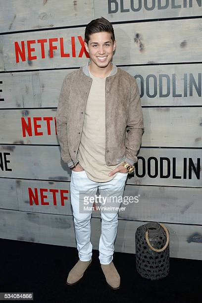 Actor Brandon Larracuente attends the Premiere of Netflix's 'Bloodline' at Westwood Village Theatre on May 24 2016 in Westwood California