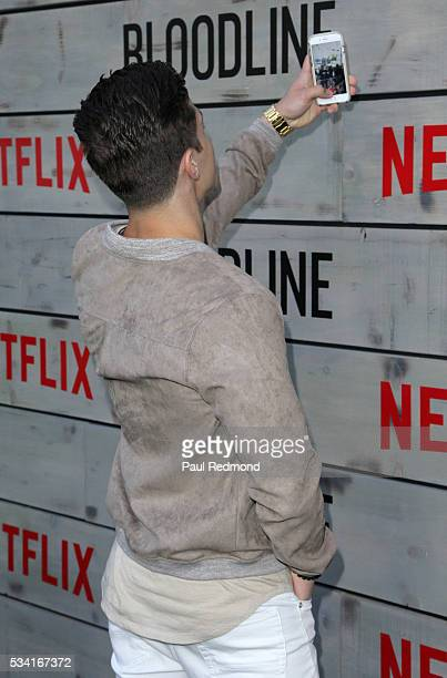Actor Brandon Larracuente attends the Premiere Of Netflix's 'Bloodline' at Landmark Regent on May 24 2016 in Los Angeles California