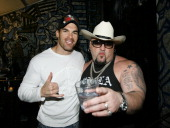 Actor Brandon Molale and owner of the Velvet Margarita 'Big Daddy' Carlos attend the 'Doggy Fiesta' hosted by Wendy Diamond and her dog Lucky held at...