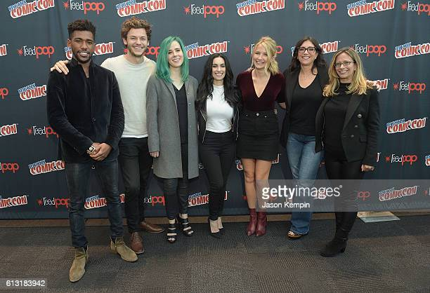 Actor Brandon Mychal Smith actor Nick Fink actress Taylor Dearden creator Jennifer Robinson actress Eliza Bennett producer Stacey Sher and producer...