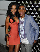 Actor Brandon Mychal Smith and girlfriend model Jasmine Tookes arrive at his 21st birthday bash presented by Vivitar and DJ Hero on June 5 2010 on...