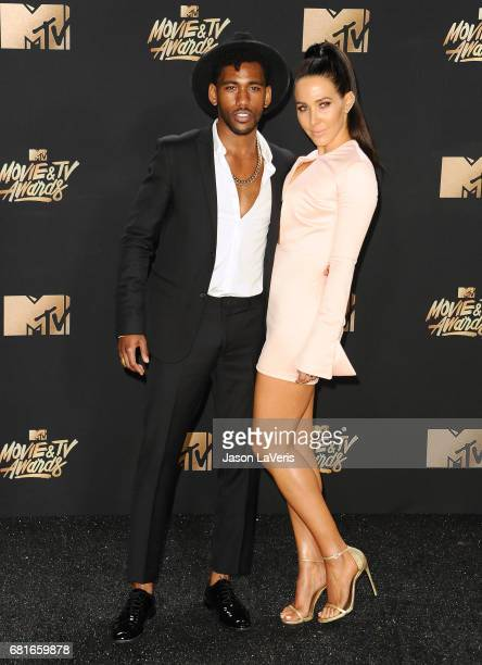 Actor Brandon Mychal Smith and Jordan Duffy pose in the press room at the 2017 MTV Movie and TV Awards at The Shrine Auditorium on May 7 2017 in Los...