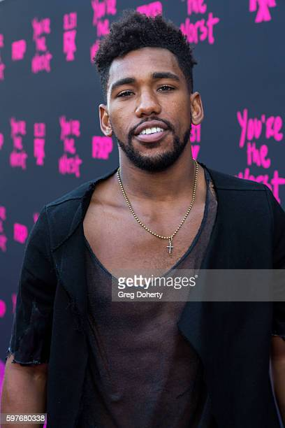 Actor Brandon Mychal Smith arrives for the Premiere Of FXX's 'You're The Worst' Season 3 at Neuehouse Hollywood on August 28 2016 in Los Angeles...