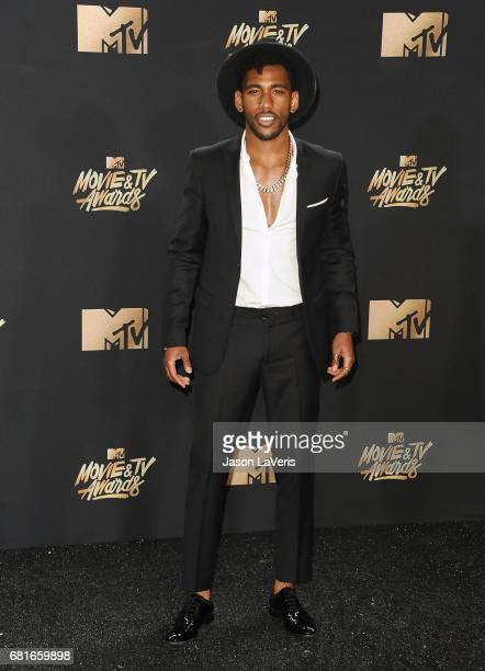 Actor Brandon Mychal Smith poses in the press room at the 2017 MTV Movie and TV Awards at The Shrine Auditorium on May 7 2017 in Los Angeles...