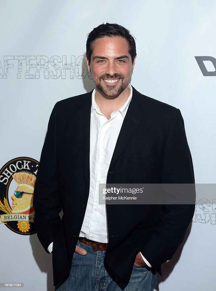 Actor Brandon Pizzola arrives for the Aftershock premiere at Mann Chinese 6 on May 1, 2013 in Los Angeles, California.