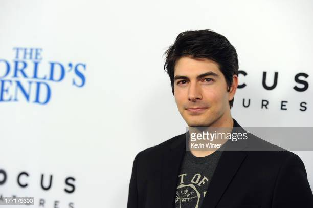 Actor Brandon Routh arrives at the premiere of Focus Features' 'The World's End' at ArcLight Cinemas Cinerama Dome on August 21 2013 in Hollywood...