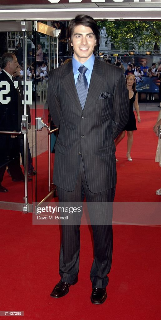 Actor Brandon Routh arrives at the UK premiere of 'Superman Returns' at Odeon Leicester Square on July 13 2006 in London England
