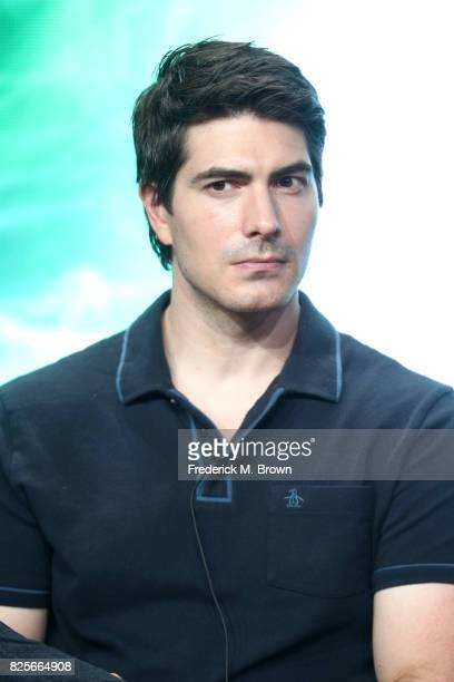 Actor Brandon Routh of 'DC's Legends of Tomorrow' speaks onstage during the CW portion of the 2017 Summer Television Critics Association Press Tour...
