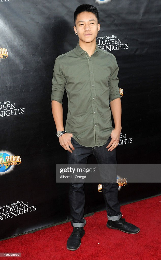 Actor Brandon Soo Hoo arrives for Universal Studios Hollywood 'Halloween Horror Nights' Kick Off With The Annual 'Eyegore Awards' held at Universal Studios Hollywood on September 19, 2014 in Universal City, California.