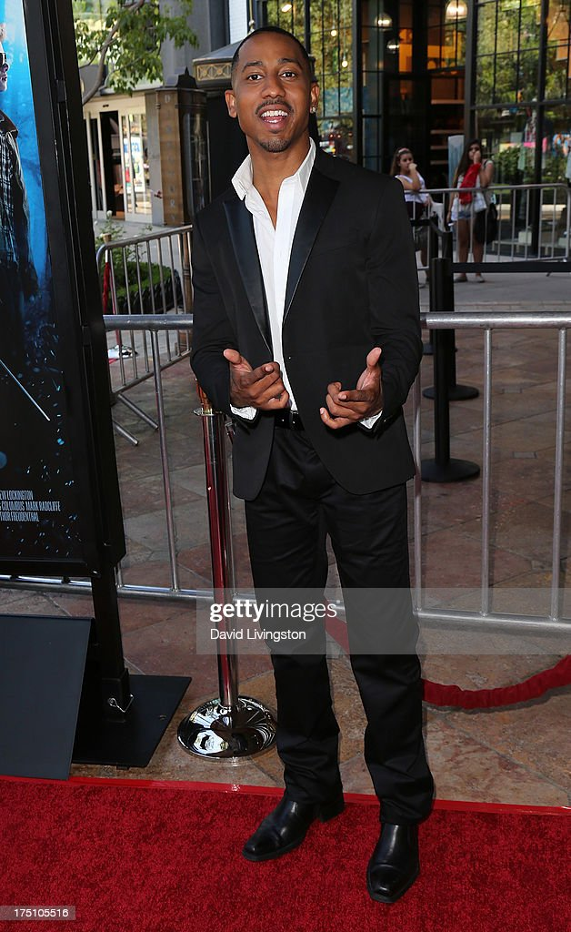 Actor Brandon T. Jackson attends a screening of Twentieth Century Fox and Fox 2000's 'Percy Jackson: Sea of Monsters' at The Americana at Brand on July 31, 2013 in Glendale, California.