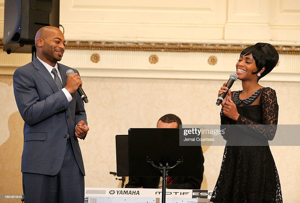 Actor Brandon Victor Dixon and actress Valisia Le Kae perform during The 16th Annual Wall Street Project Economic Summit - Day 1 at The Roosevelt Hotel on January 31, 2013 in New York City.