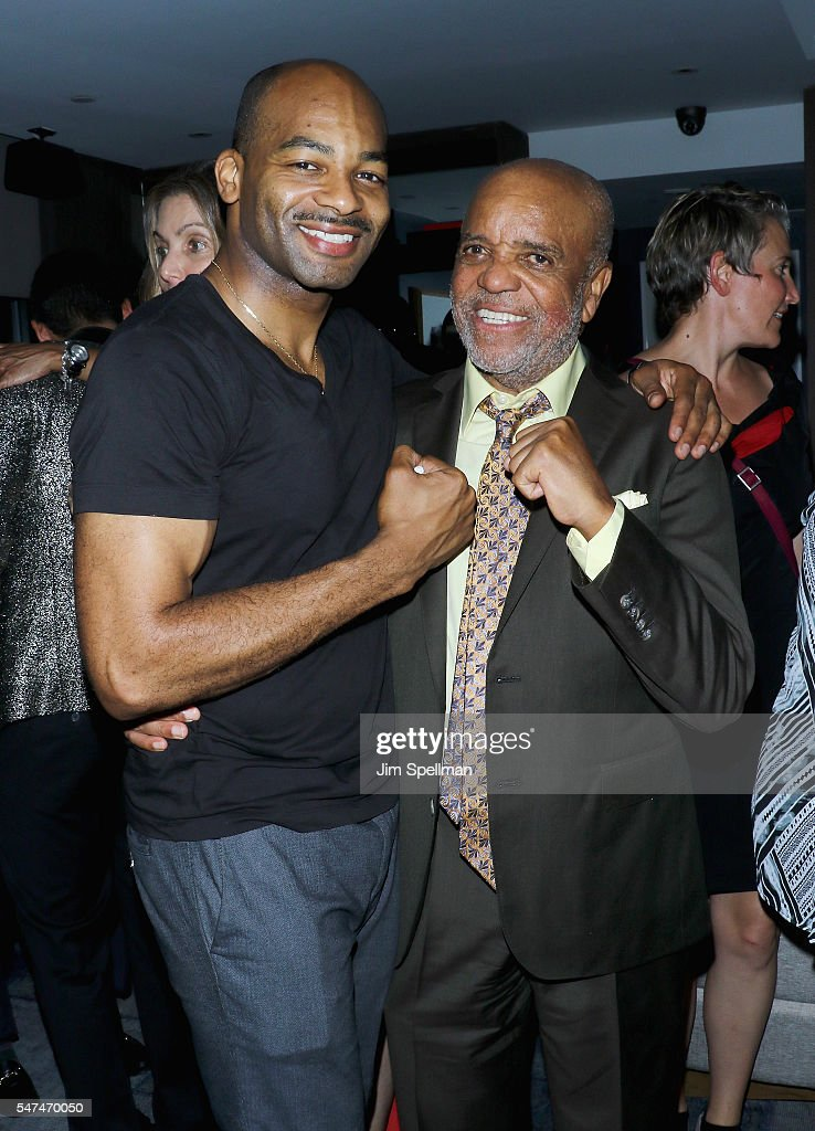 Actor Brandon Victor Dixon and record producer Berry Gordy attend 'Motown The Musical' Returns To Broadway at Nederlander Theatre on July 14, 2016 in New York City.