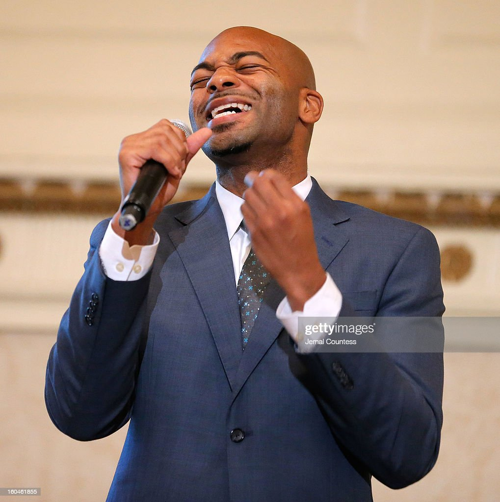 Actor Brandon Victor Dixon performs during The 16th Annual Wall Street Project Economic Summit - Day 1 at The Roosevelt Hotel on January 31, 2013 in New York City.