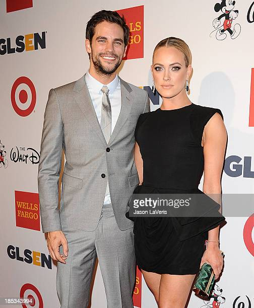 Actor Brant Daugherty and dancer Peta Murgatroyd attend the 9th annual GLSEN Respect Awards at Beverly Hills Hotel on October 18 2013 in Beverly...