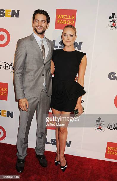 Actor Brant Daugherty and dancer Peta Murgatroyd attend the 9th Annual GLSEN Respect Awards held at the Beverly Hills Hotel on October 18 2013 in...