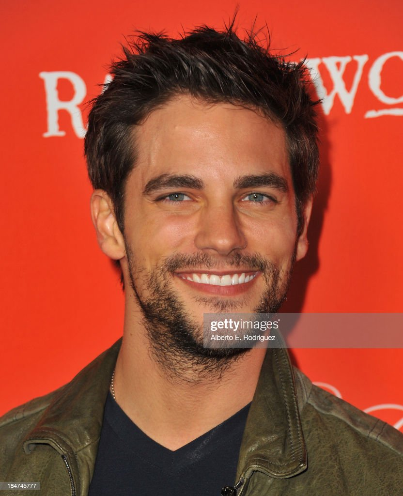 Actor <a gi-track='captionPersonalityLinkClicked' href=/galleries/search?phrase=Brant+Daugherty&family=editorial&specificpeople=7313465 ng-click='$event.stopPropagation()'>Brant Daugherty</a> attends a screening of ABC Family's 'Pretty Little Liars' Halloween episode at Hollywood Forever Cemetery on October 15, 2013 in Hollywood, California.