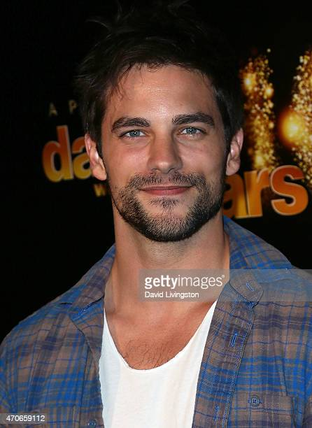 Actor Brant Daugherty attends the 10th anniversary of ABC's 'Dancing with the Stars' at Greystone Manor on April 21 2015 in West Hollywood California