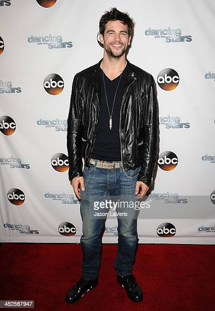 Actor Brant Daugherty attends the 'Dancing With The Stars' wrap party at Sofitel Hotel on November 26 2013 in Los Angeles California